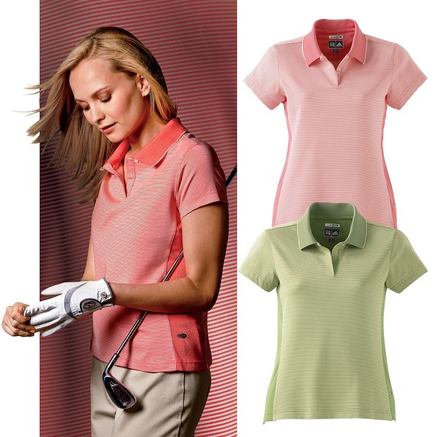 Adidas Golf Womens ClimaCool Stripe Polo - Ladies 1df42994b